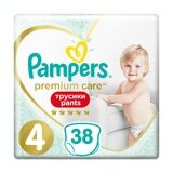 Трусики Pampers Premium Care 4 (9-15 кг) 38 шт