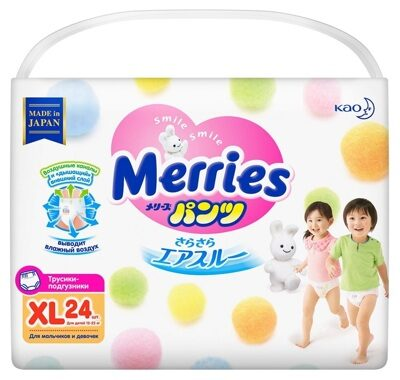 Трусики Merries XL 12-22 кг. (24 шт.)