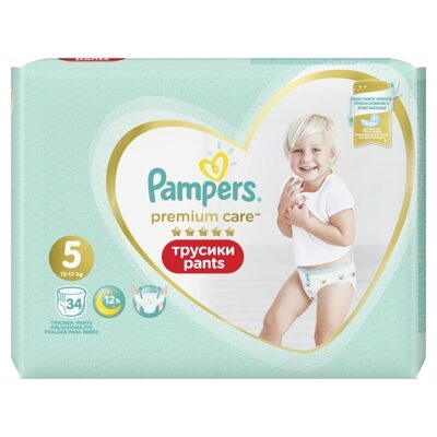 Трусики Pampers Premium Care 5 (12-17 кг) 34 шт
